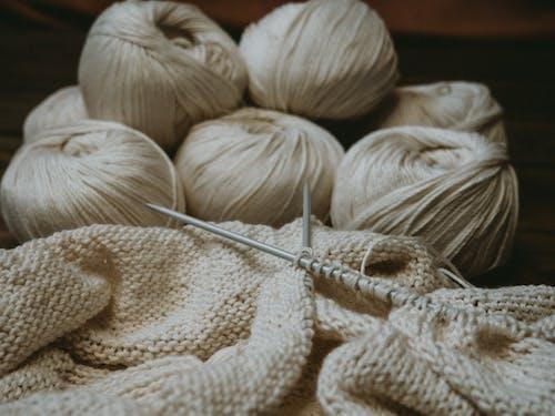 Yarn Rolls and Needles