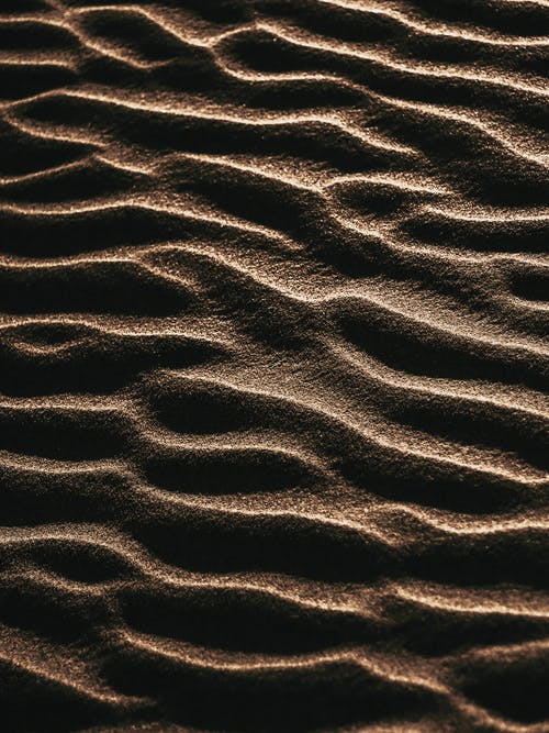 Brown Sand With Black Shadow