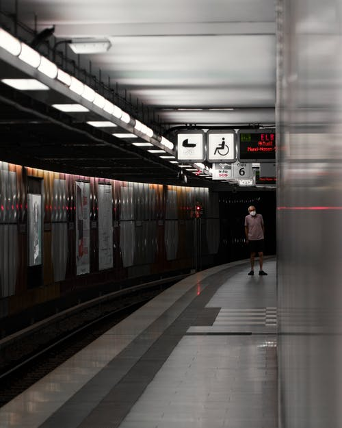 Man Standing on a Subway Station