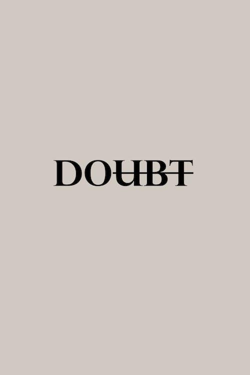 Motivierende Einfache Inschrift Gegen Zweifel