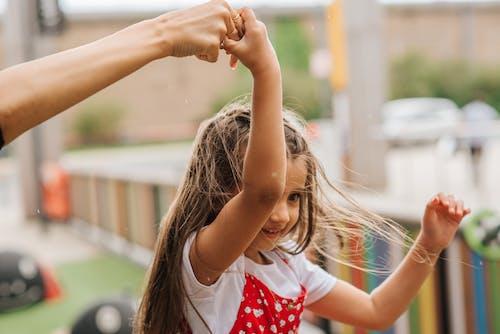 Little girl having fun on playground