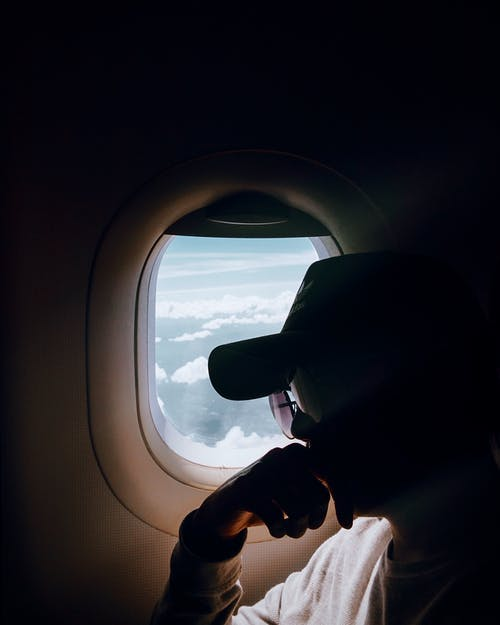 Free stock photo of air travel, aircraft window, airplane window