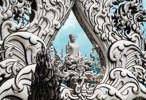 Gold and White Buddha Statue