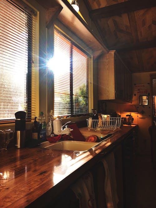 Free stock photo of 70s, kitchen, sun flare