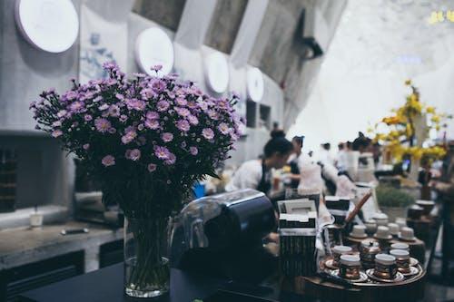 Foto profissional grátis de amor, arranjo de flores, cadeira, café
