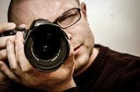 man, camera, taking photo