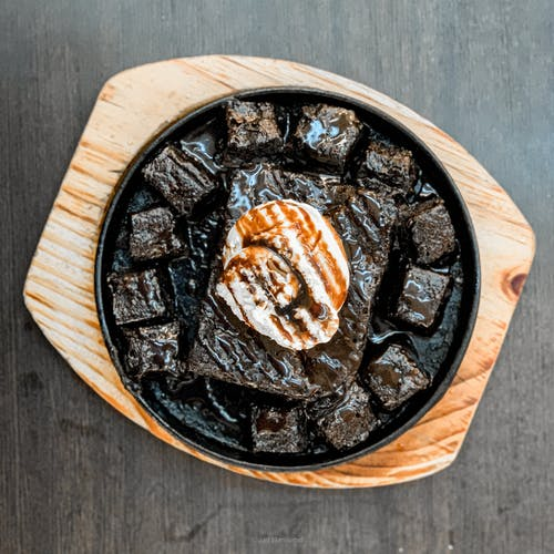 Free stock photo of brownies, food, iphone