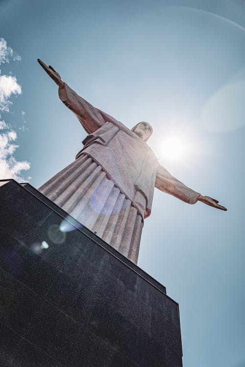 Low Angle Photography of Angel Statue