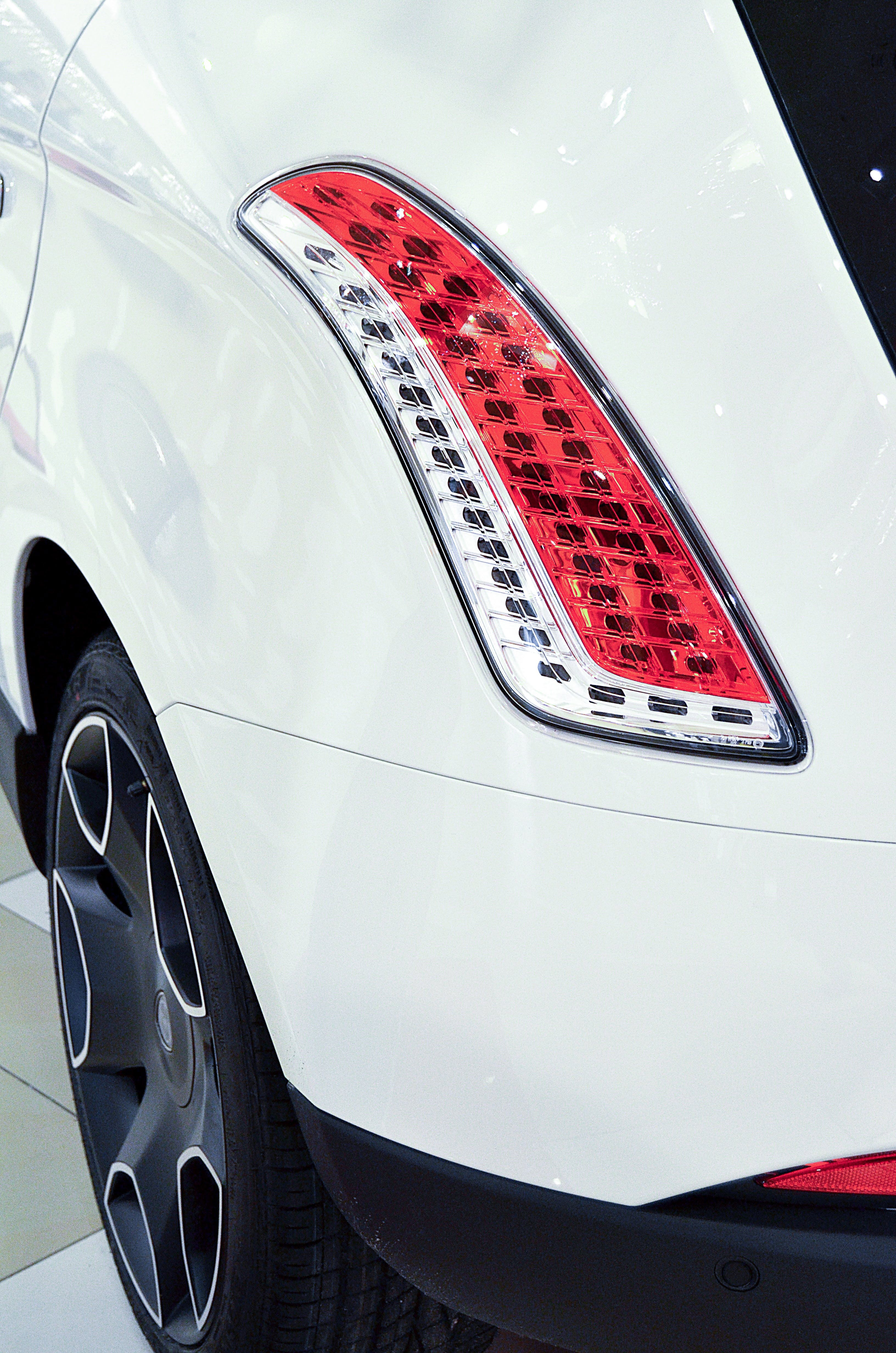 Red and White Car Tail Light
