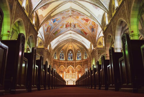 Brown and White Cathedral Interior