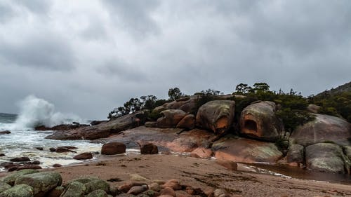 Free stock photo of beach, crashing waves, tasmania