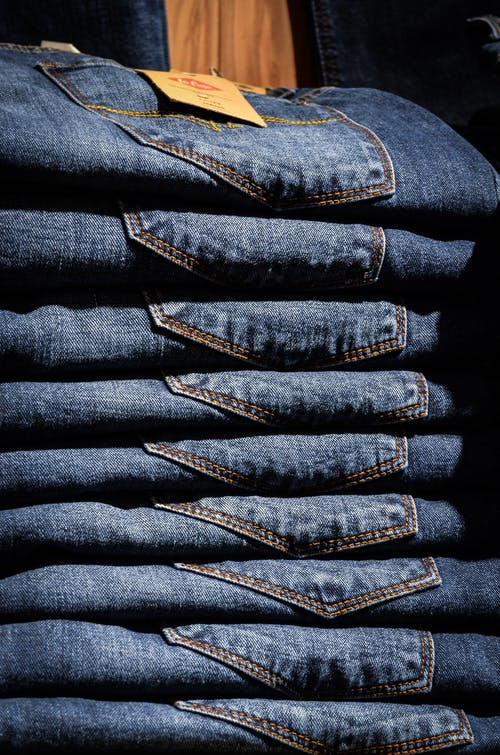 Stacked Blue Jeans