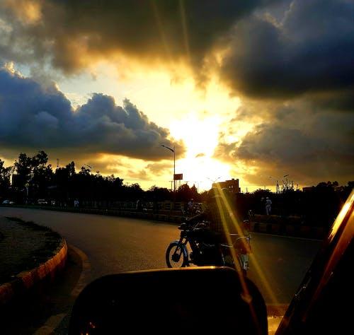 Free stock photo of bright sun, eveningtime, sunset