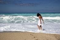 sea, sunny, person
