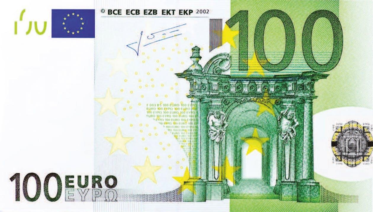 100, 100ユーロ, お金