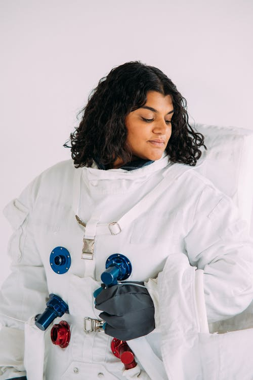 Woman In An Astronaut Costume
