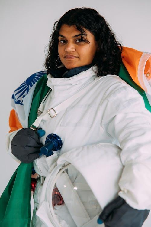 Woman Wearing An Astronaut Costume