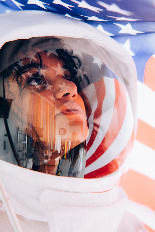 Woman In A Space Suit