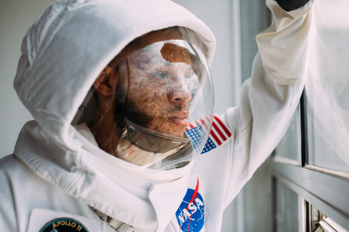 Man Wearing A Space Suit