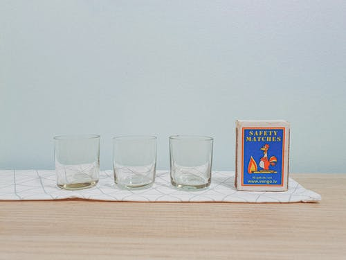 Empty Shot Glasses on Table