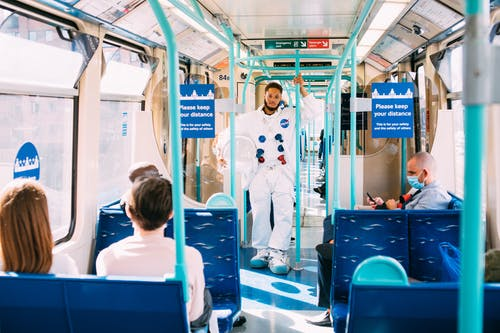 Astronaut in Public Transport