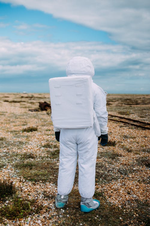 Astronaut Standing Alone