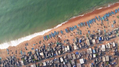açık hava, deniz, dış mekan, drone bakışı içeren Ücretsiz stok fotoğraf