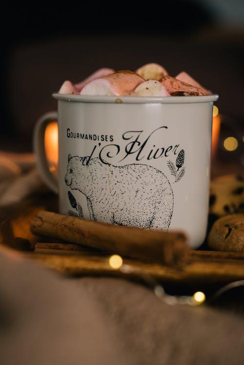 White and Black Ceramic Mug With Happy Birthday Print