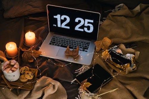 Macbook Pro on Black Textile