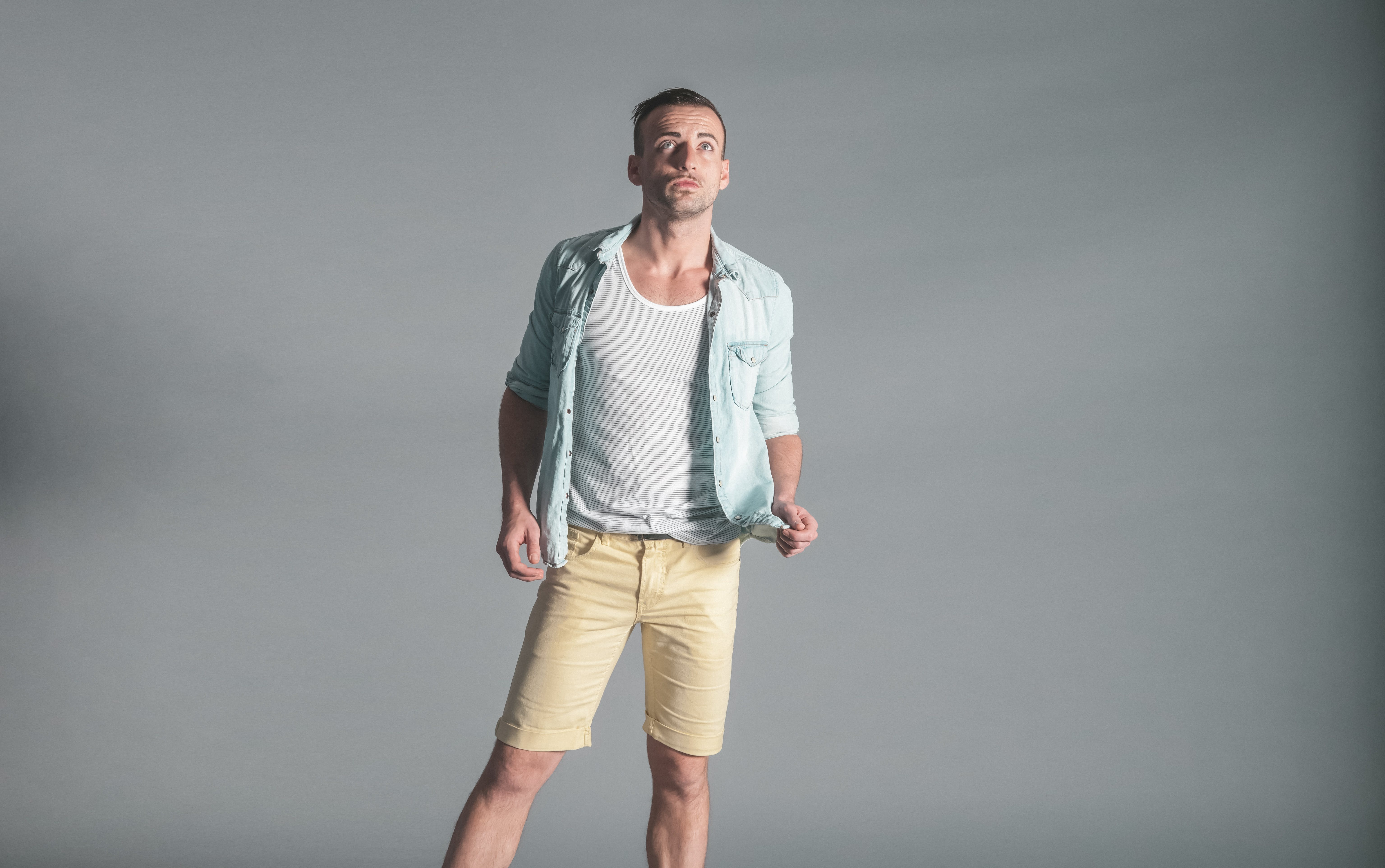 Free stock photo of fashion, man, person, shorts