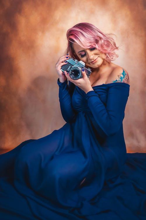 Imagine de stoc gratuită din aparat de fotografiat, aparat foto, femeie