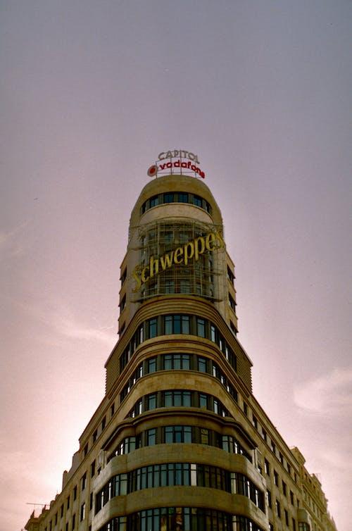 Бесплатное стоковое фото с 35 мм пленка, архитектура, башня