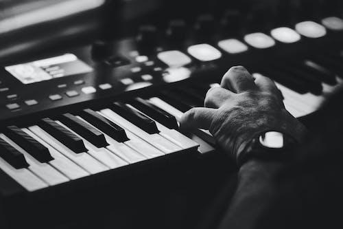 Free stock photo of b&w, keyboard, keys