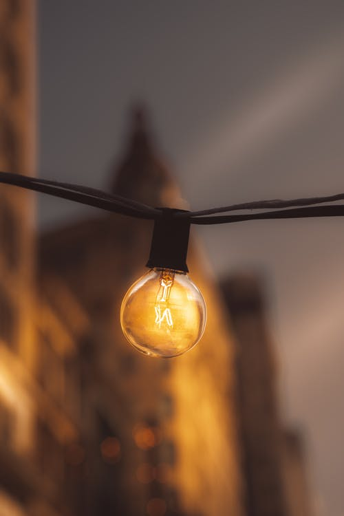Fotos de stock gratuitas de guirnalda de bombillas, iluminado, ligero