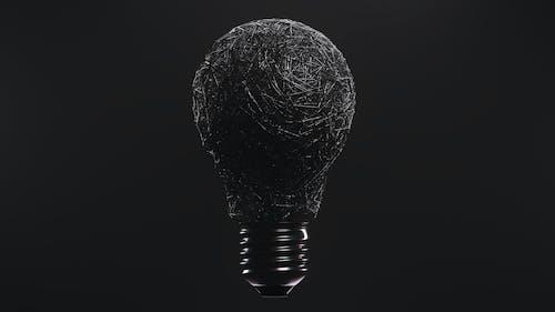 Black and Gray Light Bulb