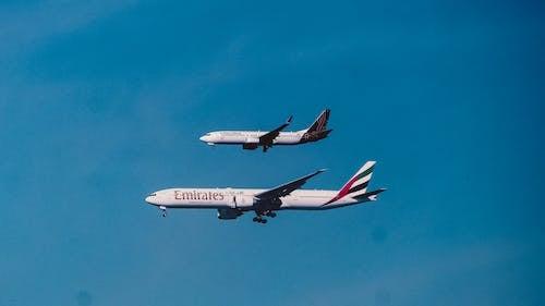 Free stock photo of aeroplane, aeroplanes, airplane spotting, two aeroplane
