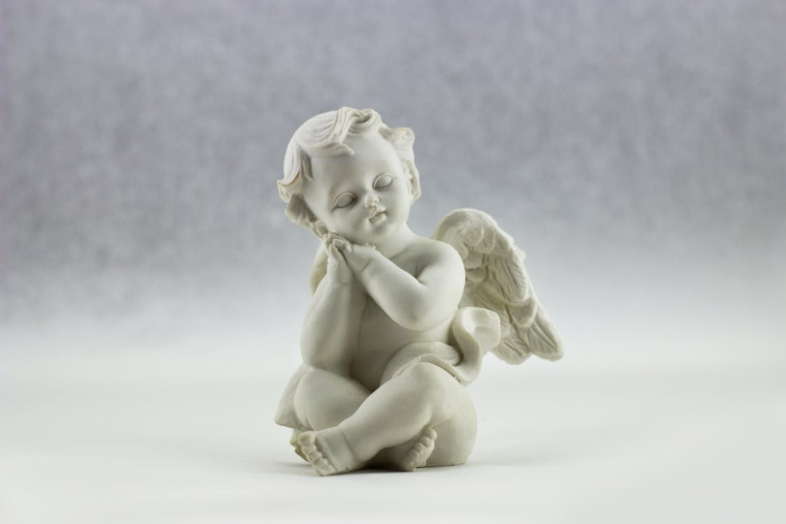 dekorativ, engel, figur