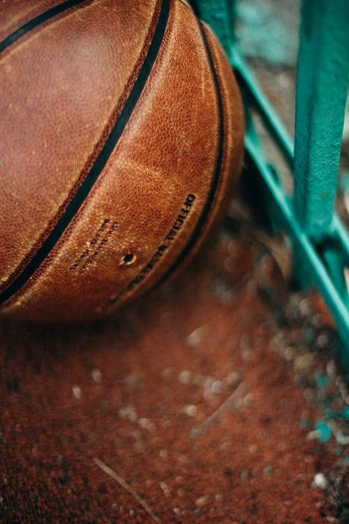 Close-Up Photo of Brown Basketball