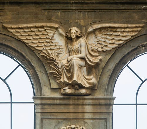 Free stock photo of angel wings, catedral, clouds