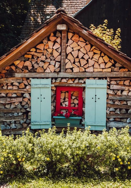 Free stock photo of beautiful, colorful houses, firewood