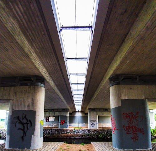 Free stock photo of bridge, concrete column, freeway