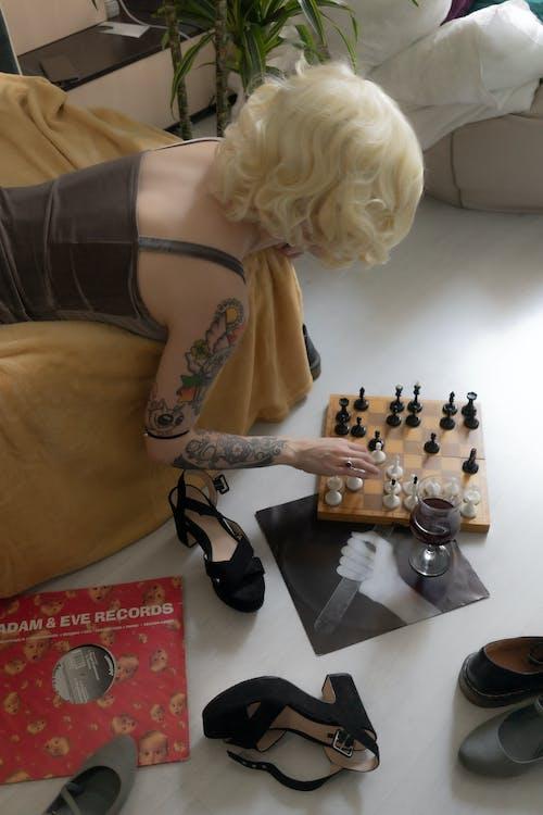 Fotos de stock gratuitas de acogedor, afición, ajedrez