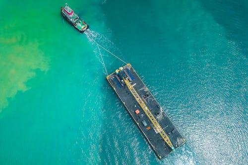 Photos gratuites de à distance, aérien, azure, bateau