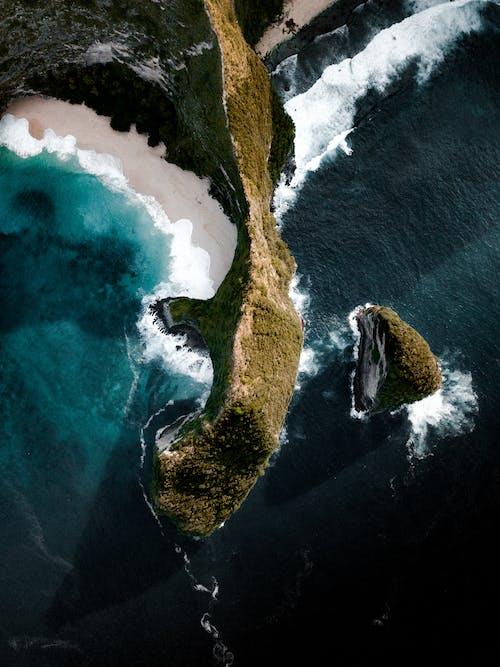 Immagine gratuita di acqua, bali, costa, drone