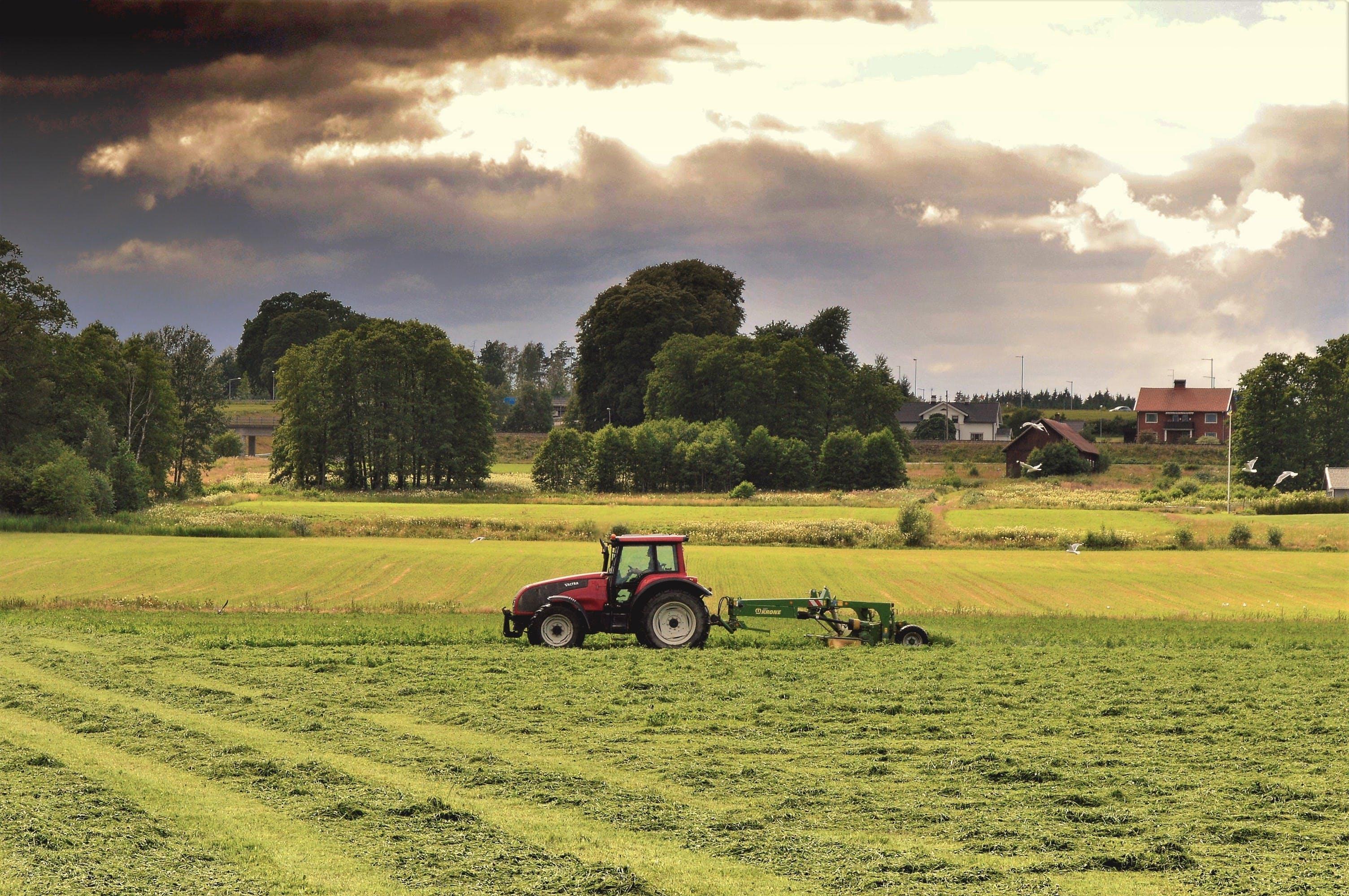 スウェーデン, トラクター, ファーム, フィールドの無料の写真素材