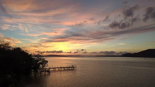 Бесплатное стоковое фото с живописный, закат, море