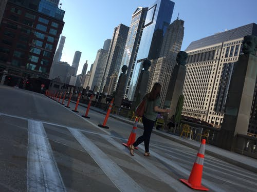 Free stock photo of chicago, pedestrian crossing, urban background