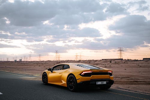 A Supercar with a Picturesque Scenery