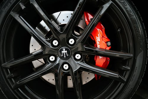 Black and Silver Bmw Wheel