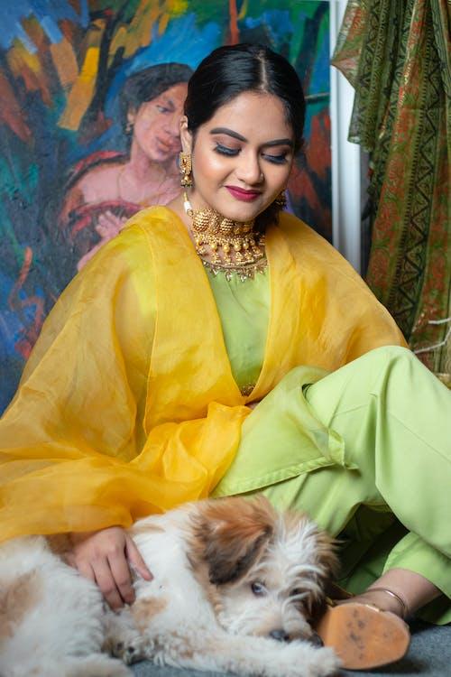 Woman in Yellow Blazer Smiling
